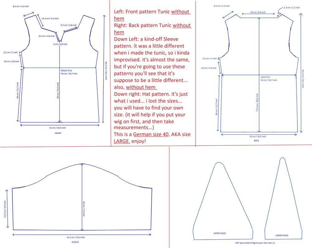 Patterns Tunic Link SS by DutchGirlMaaike.deviantart.com on ...
