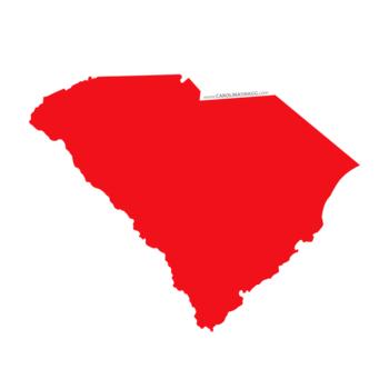 State of South Carolina Cardstock Die Cut Shape