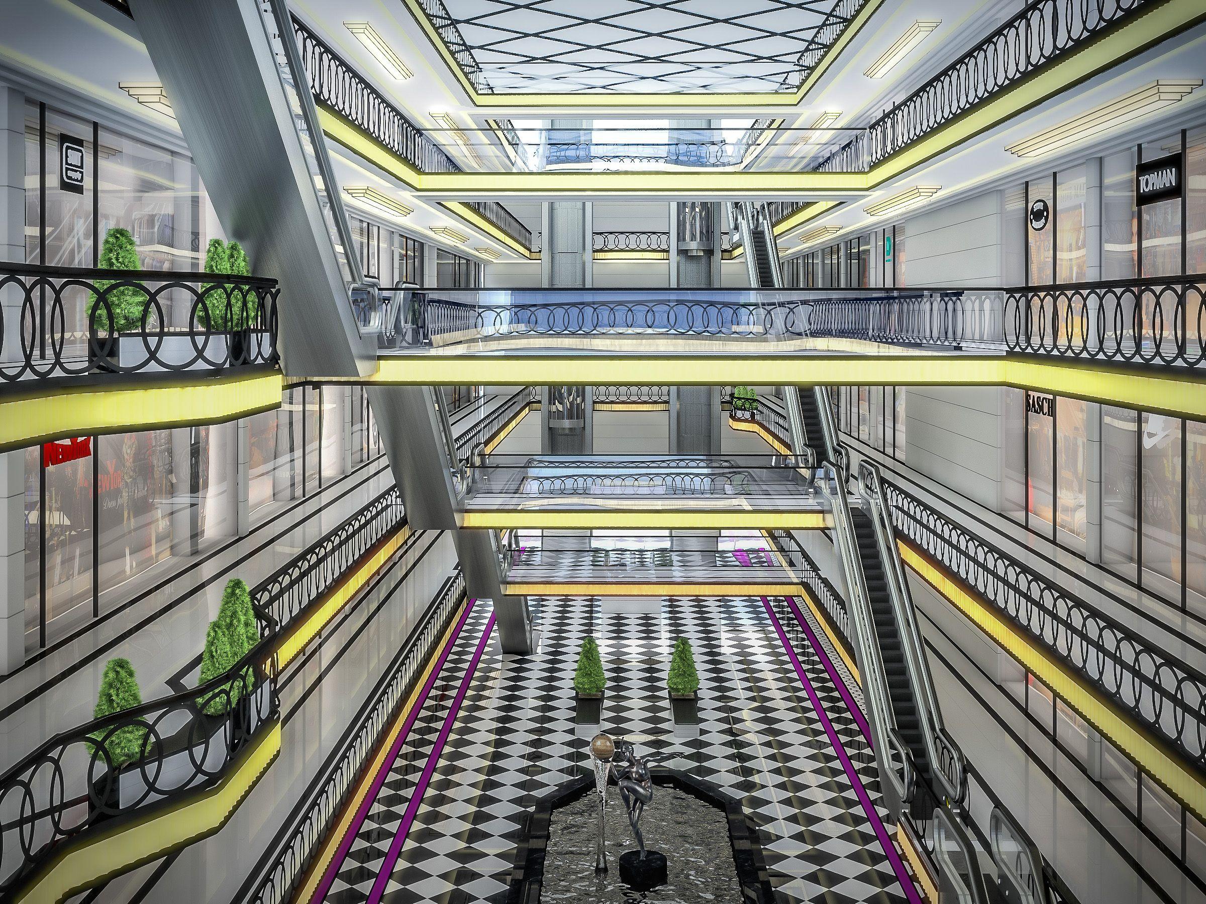 Shopping Mall Interior #Shopping, #Mall, #Interior | design