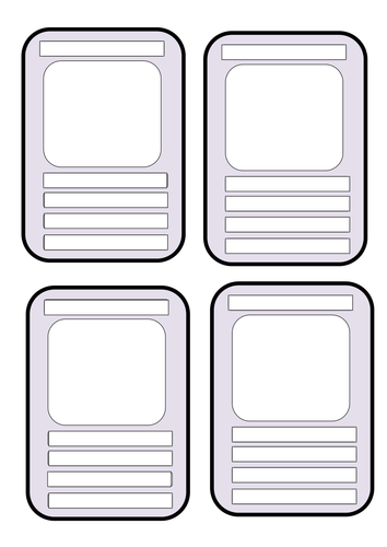 Rachel Blank Educational Top Trumps Template Templates