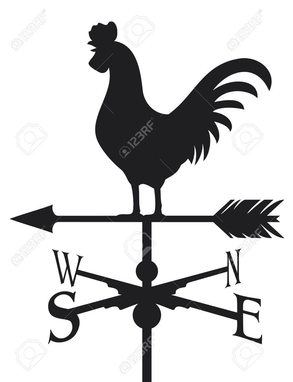 Rooster Weather Vane Weathercock Silhouette Rooster Weather Vane Illustration Aff Vane Weather Rooster Illustration Silhouette Clip Art Weather Vanes