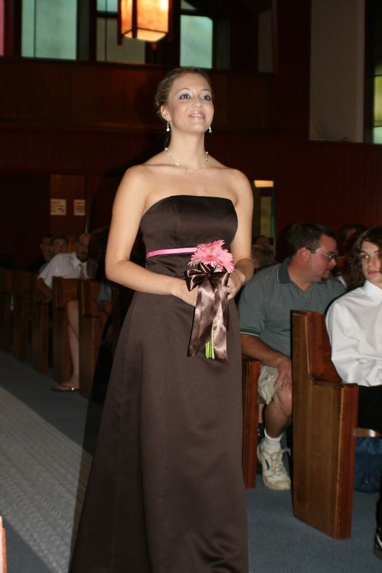 Brown And Pink Bridesmaid Dresses Pink And Brown Wedding