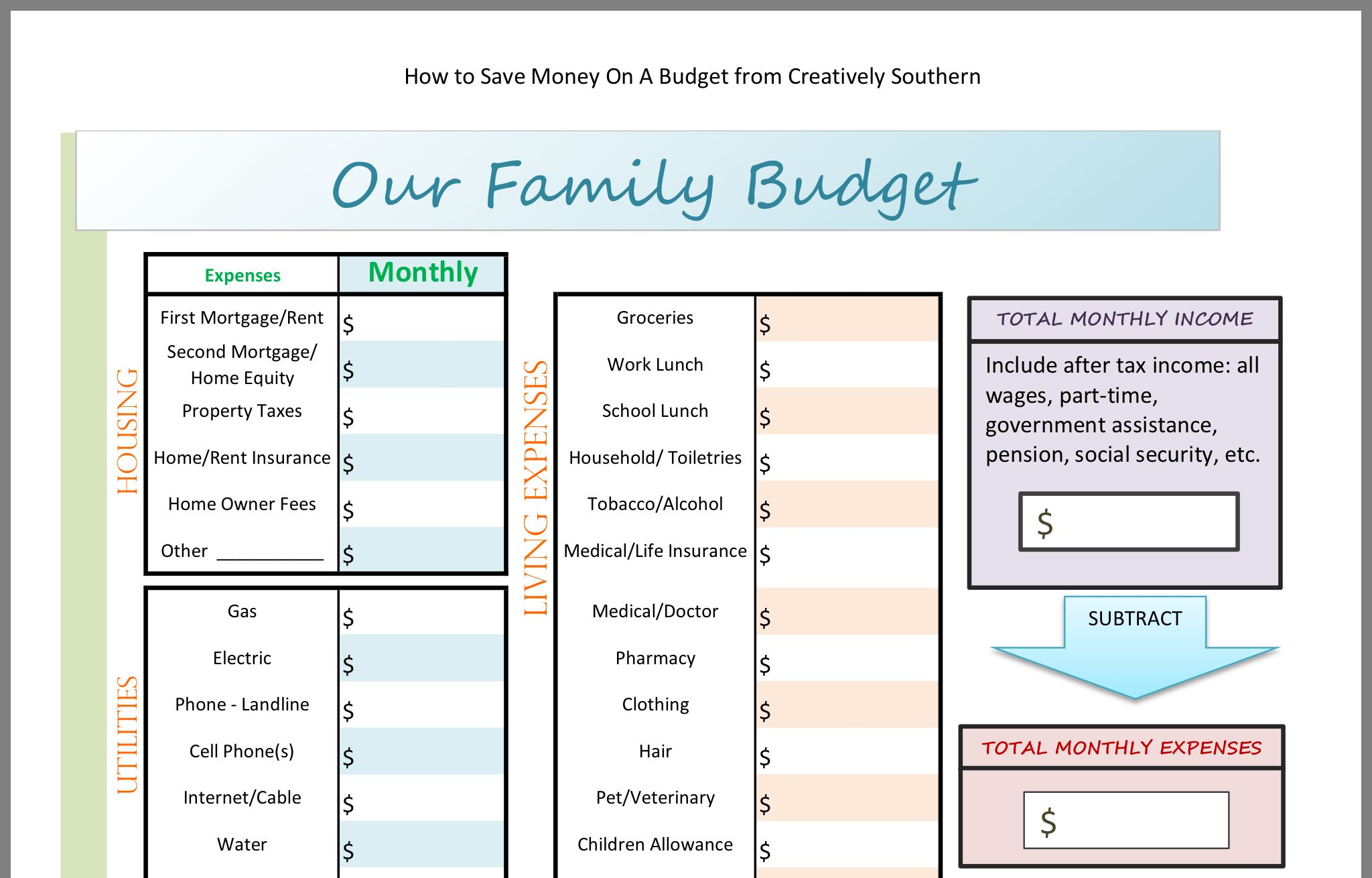 Pin By Tanette Weathers Hannon On Budgeting