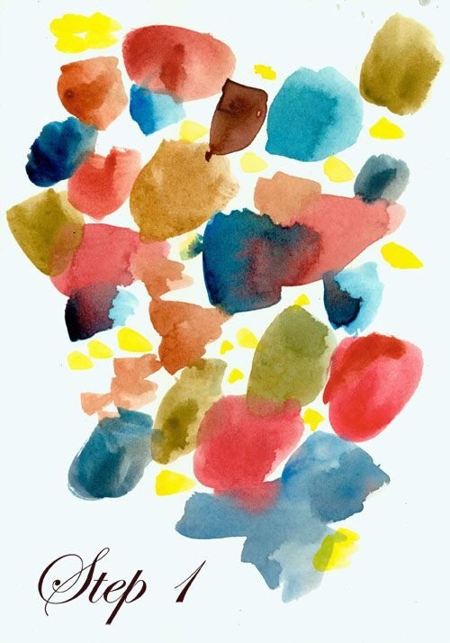 Abstracted Flowers Abstract Watercolor Flower Abstract