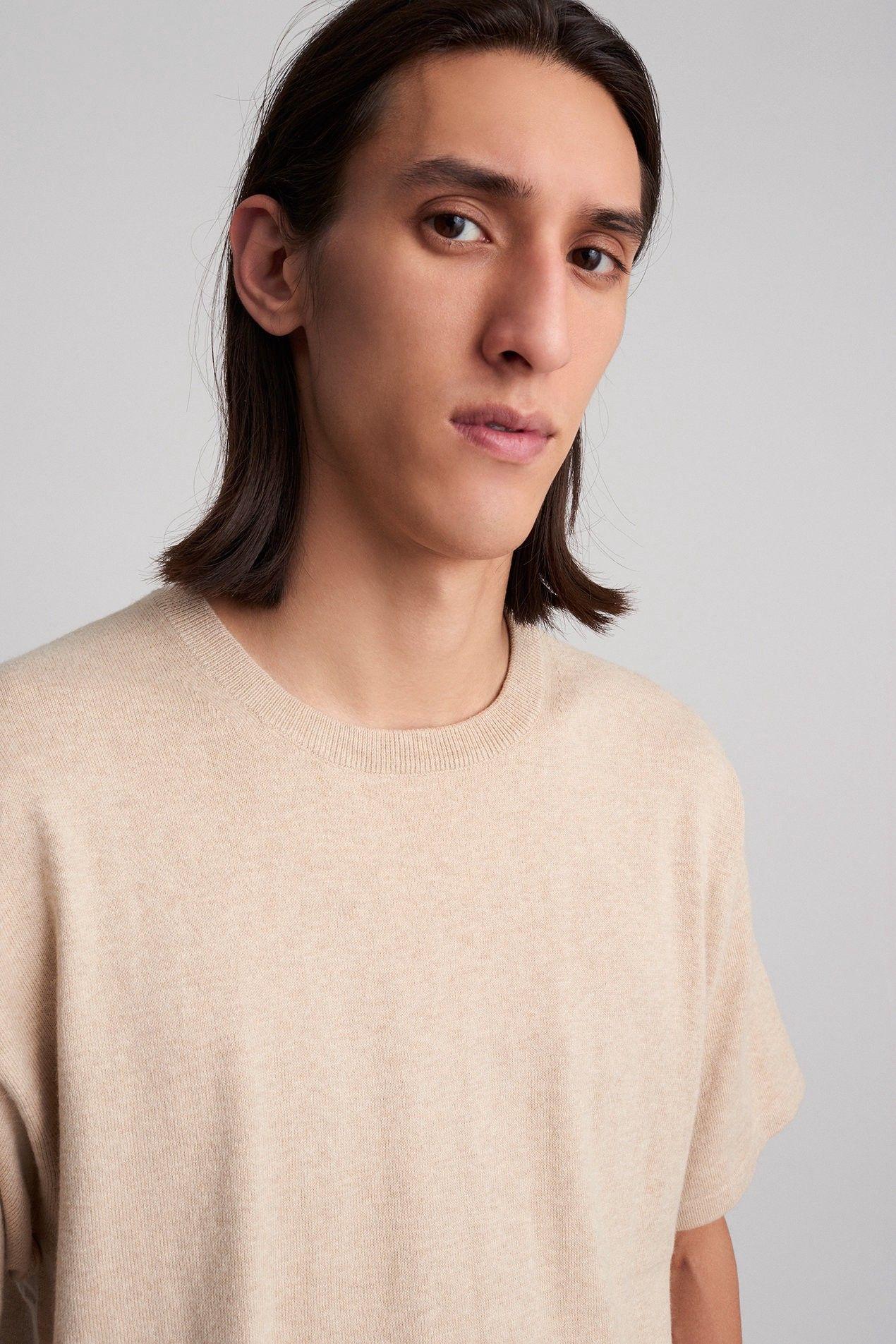 ef185a2536b2 Saturdays Nyc Pacho Short Sleeve Sweater British Khaki - XL ...