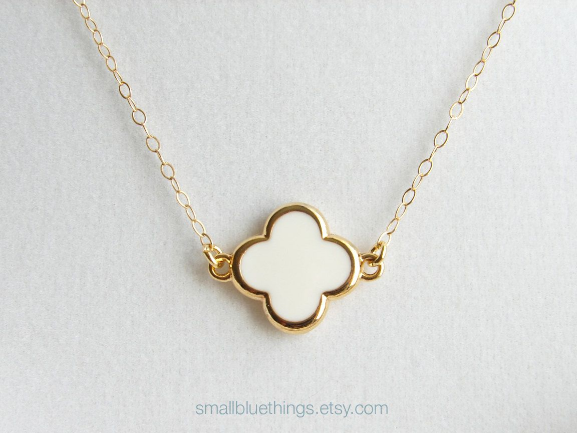 image silver sterling jewellery rose finish four necklaces leaf cubic all pendants gold clover necklace zirconia pendant