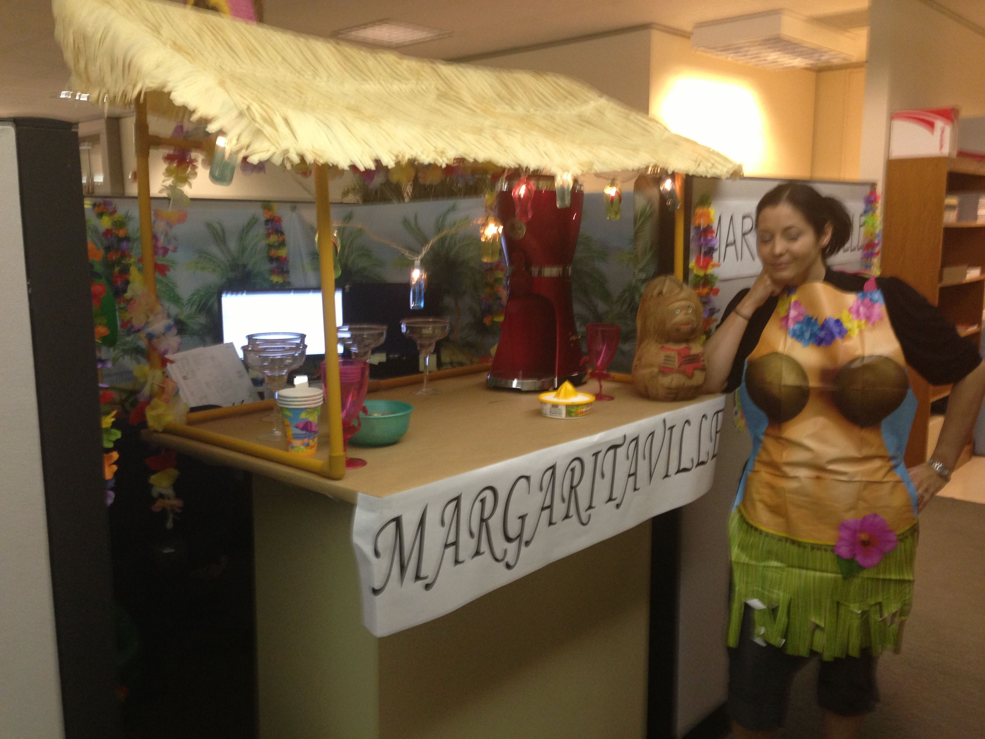 Attractive Cubicle Decorating Ideas Theme Part - 1: MargaritaVille Themed Cubicle Decoration