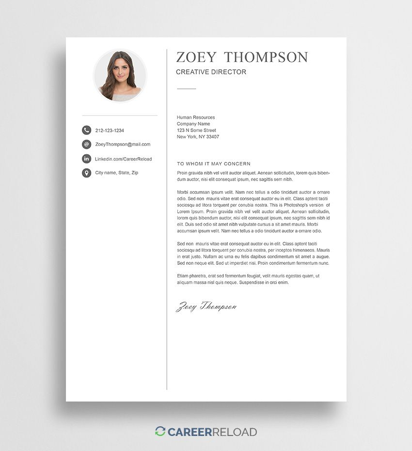 31++ Cover letter for resume template free Examples