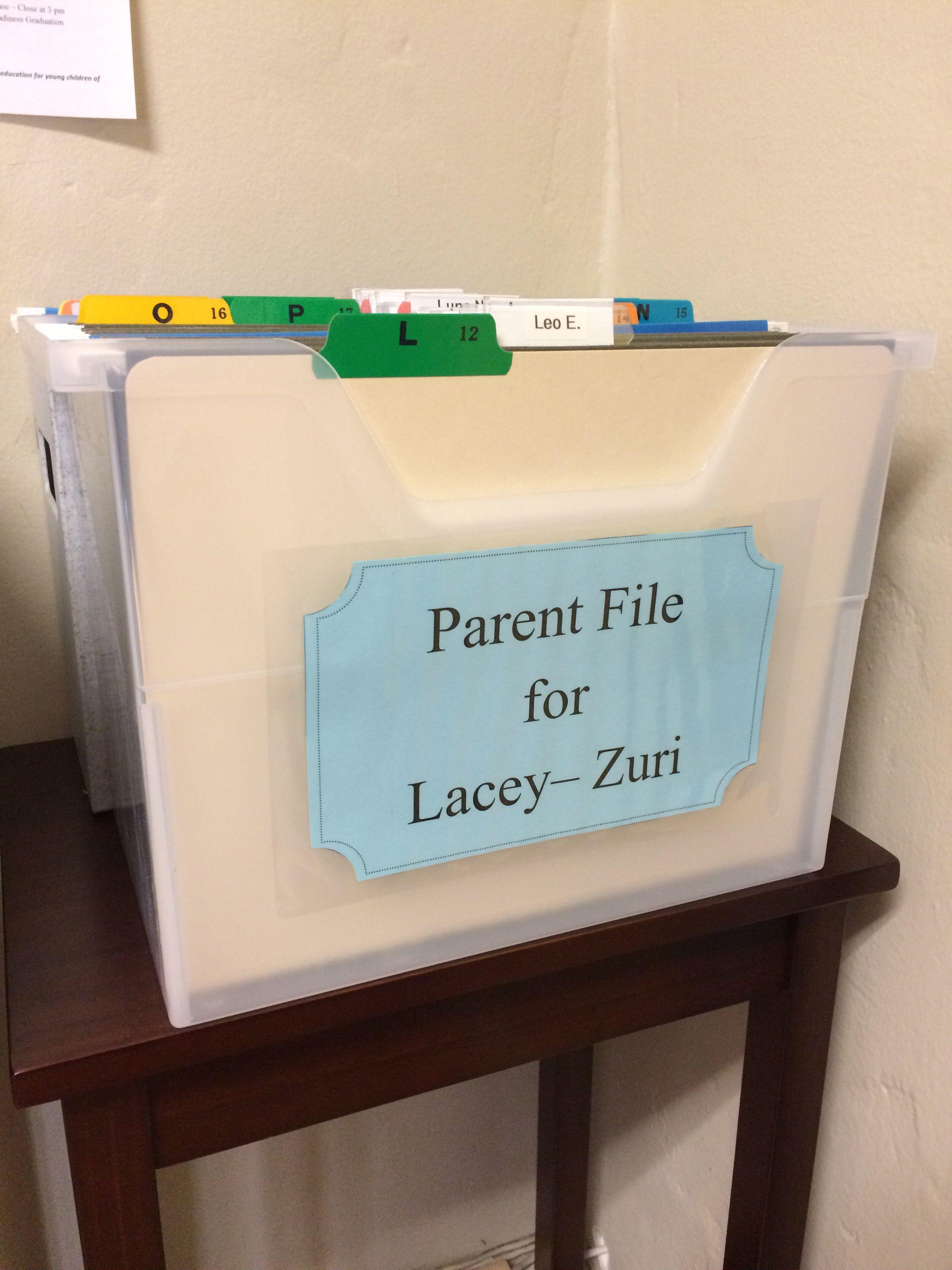 Parent file, mailbox for parents | Preschool Lobby | Pinterest ...