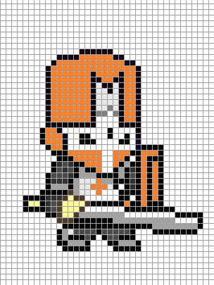 Castle Crasher Orange  General Pixel Art To Do