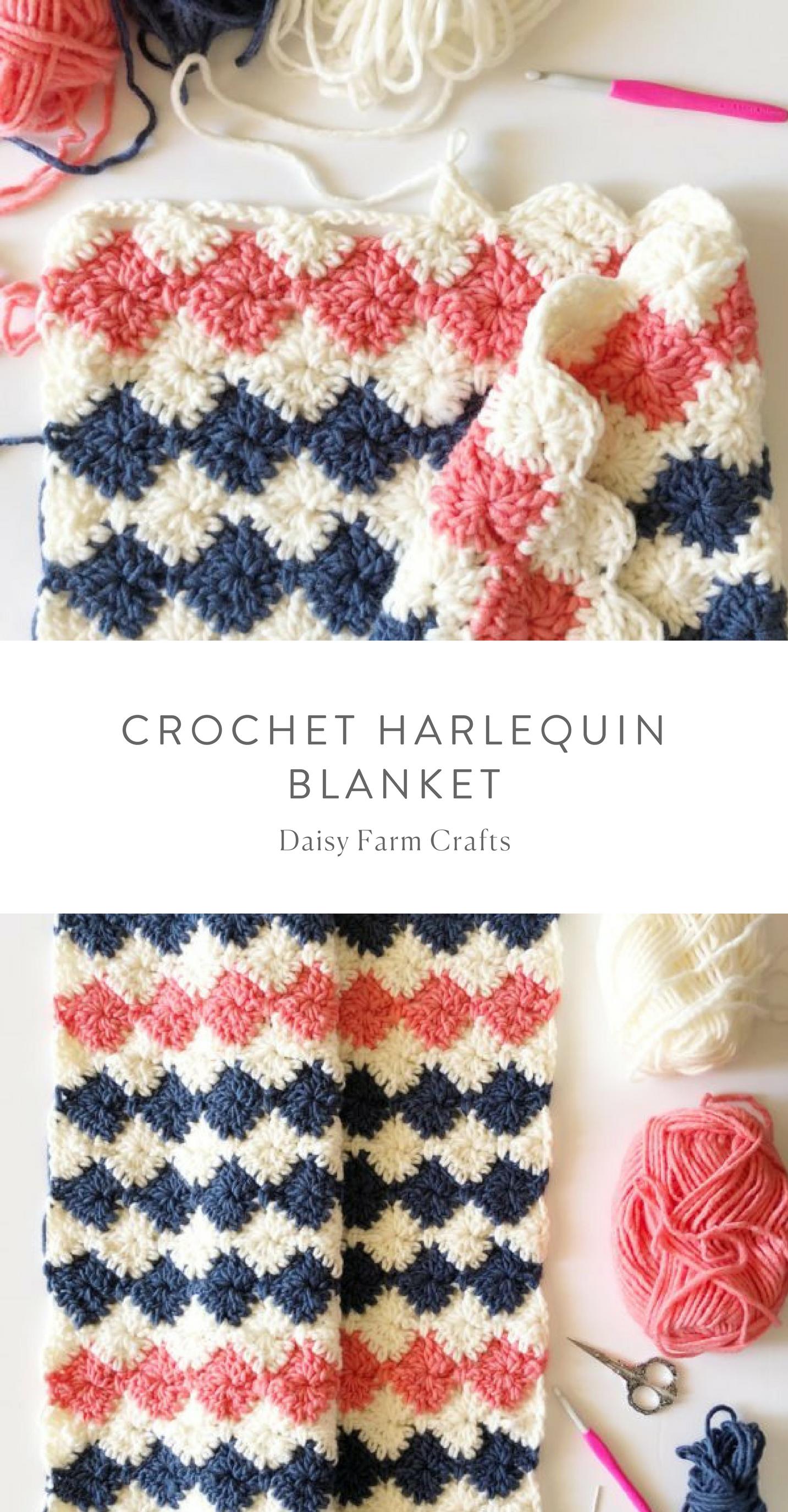 Free Pattern - Crochet Harlequin Blanket #crochet ...