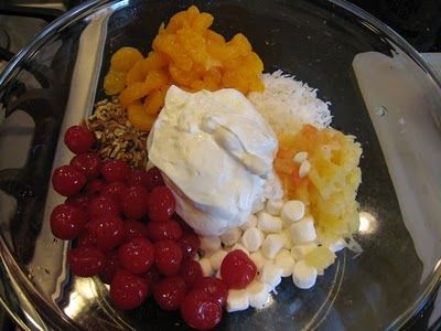 7 Cup Fruit Salad My Mom Gave Me This Recipe Over The Phone One Evening When I Was In A Pinch On A Quick And Easy Side Dish For A Party