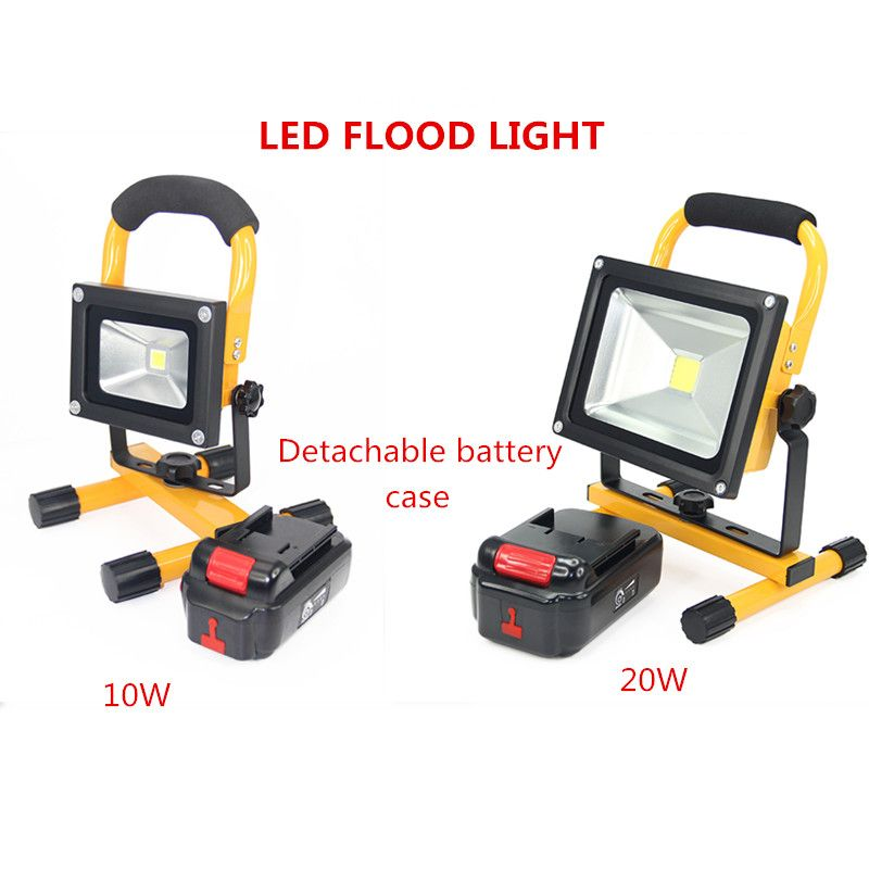 10w 20w Led Floodlight Rechargeable Led Lamp Portable Outdoor Spotlight Camping Work Light With Car Charger Deta Waterproof Led Camping Lights Led Flood Lights