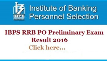 Ibps Results 2016 Cwe Rrb V Officer Scale I Preliminary Exam