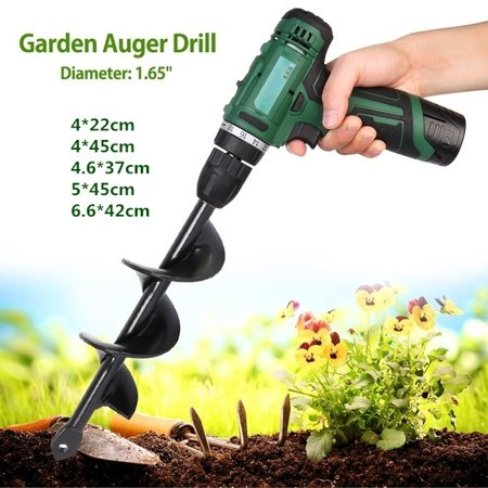 5 Sizes Electric Drill For Plant Planting Auger Bit Fence Post