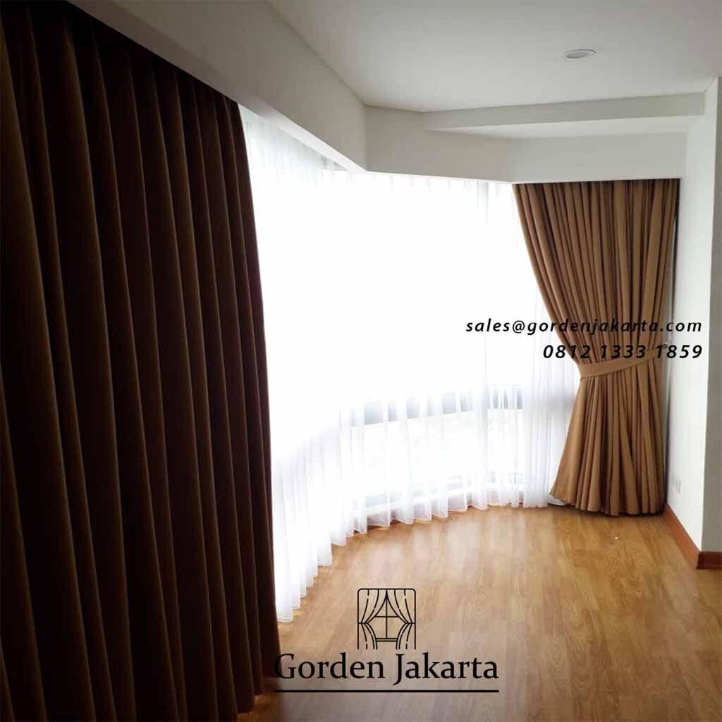 Model Gorden Minimalis Lengkung Apartemen Taman Anggrek