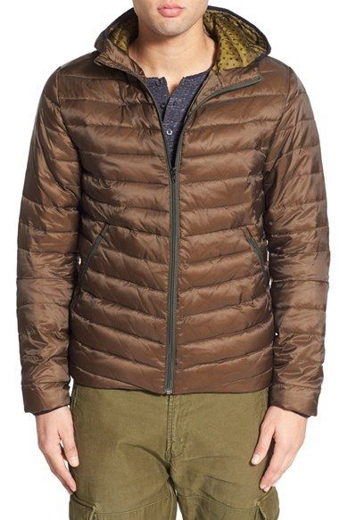 Scotch & Soda Trim Fit Quilted Hooded Jacket