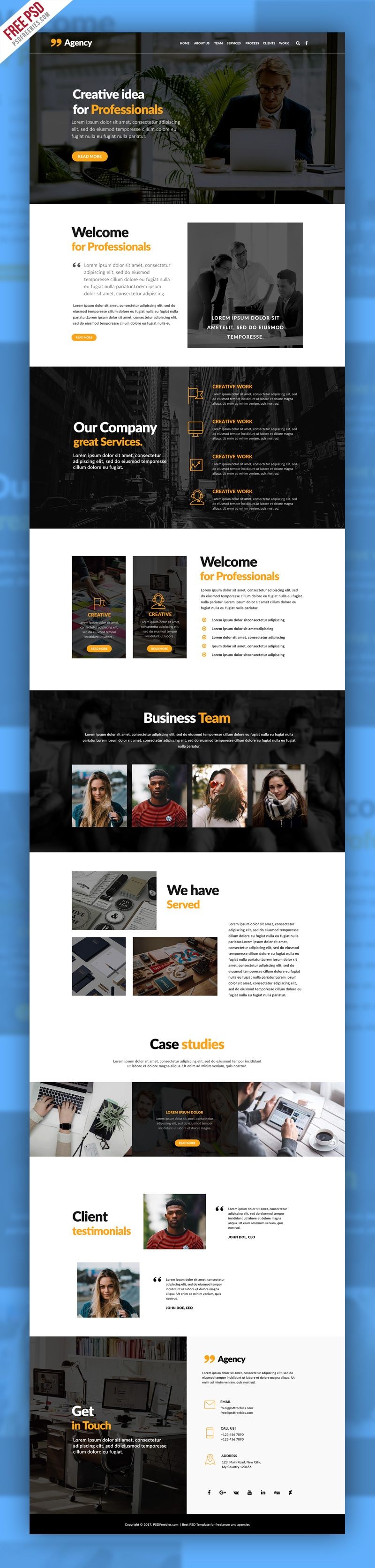 personal portfolio and corporate website template psd pinterest