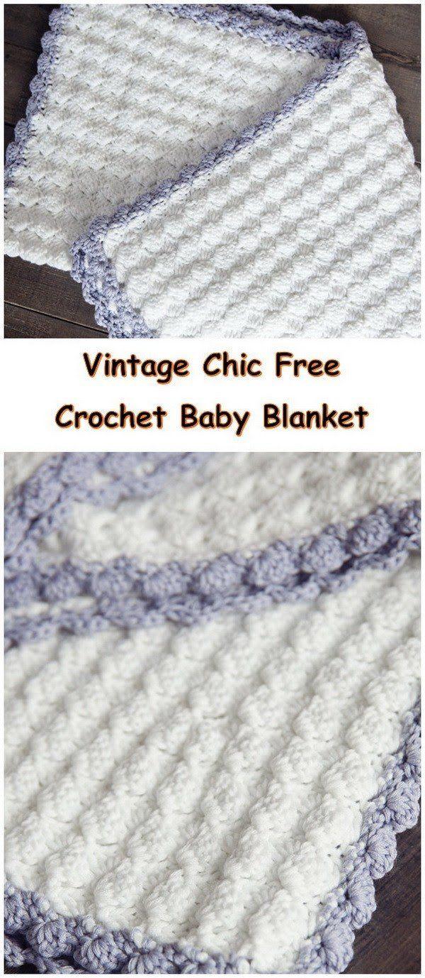 Vintage Chic Free Crochet Baby Blanket Pattern. | Crochet | Pinterest