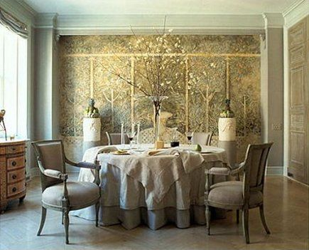 The Mural Was Inspired By A Pompeiian Fresco Saladino Altered To Suggest Rising Damp From Ground Up Effect Lends Room Feeling Of