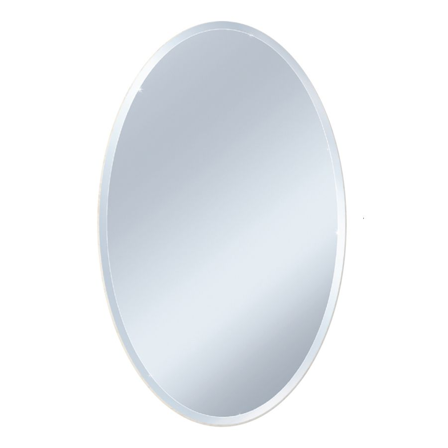 Style Selections L X W Oval Beveled Wall Mirror Lowes Com Beveled Edge Mirror Mirror Wall Oval Wall Mirror [ 900 x 900 Pixel ]