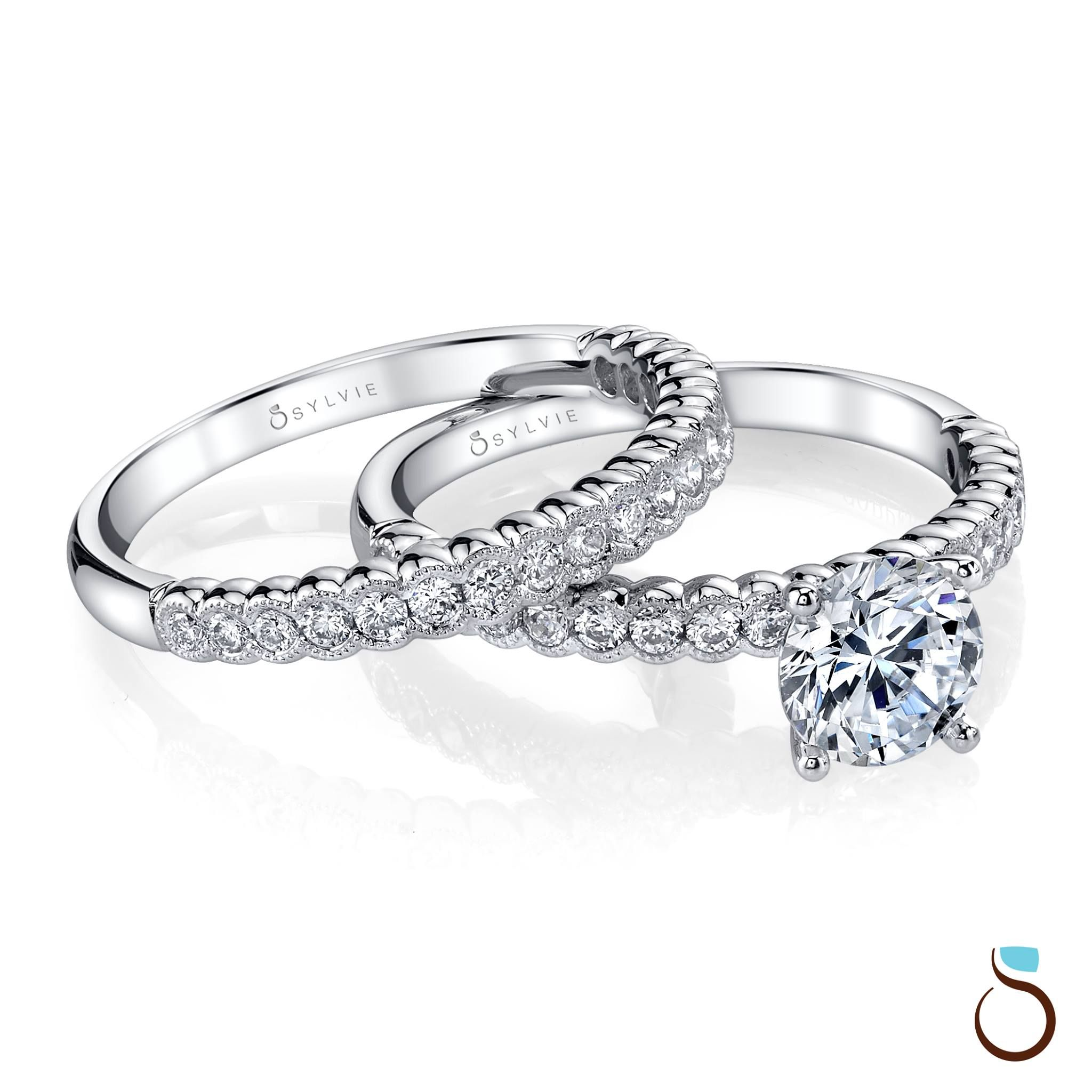 Sylvie Collections Offers Wedding Bands That Match Perfectly With Your Engagement Ring Shop Wit Designer Engagement Rings Engagement Rings Diamond Bridal Sets