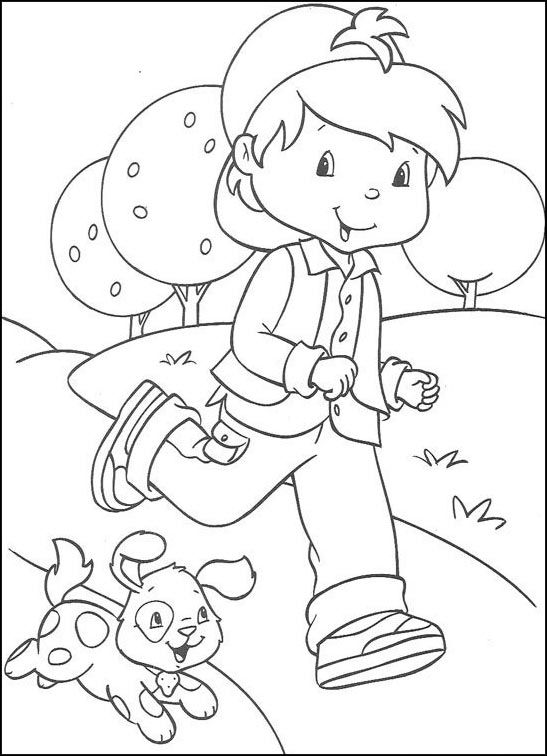 Strawberry Shortcake Fargelegging. Tegninger 3 | coloring book pages ...