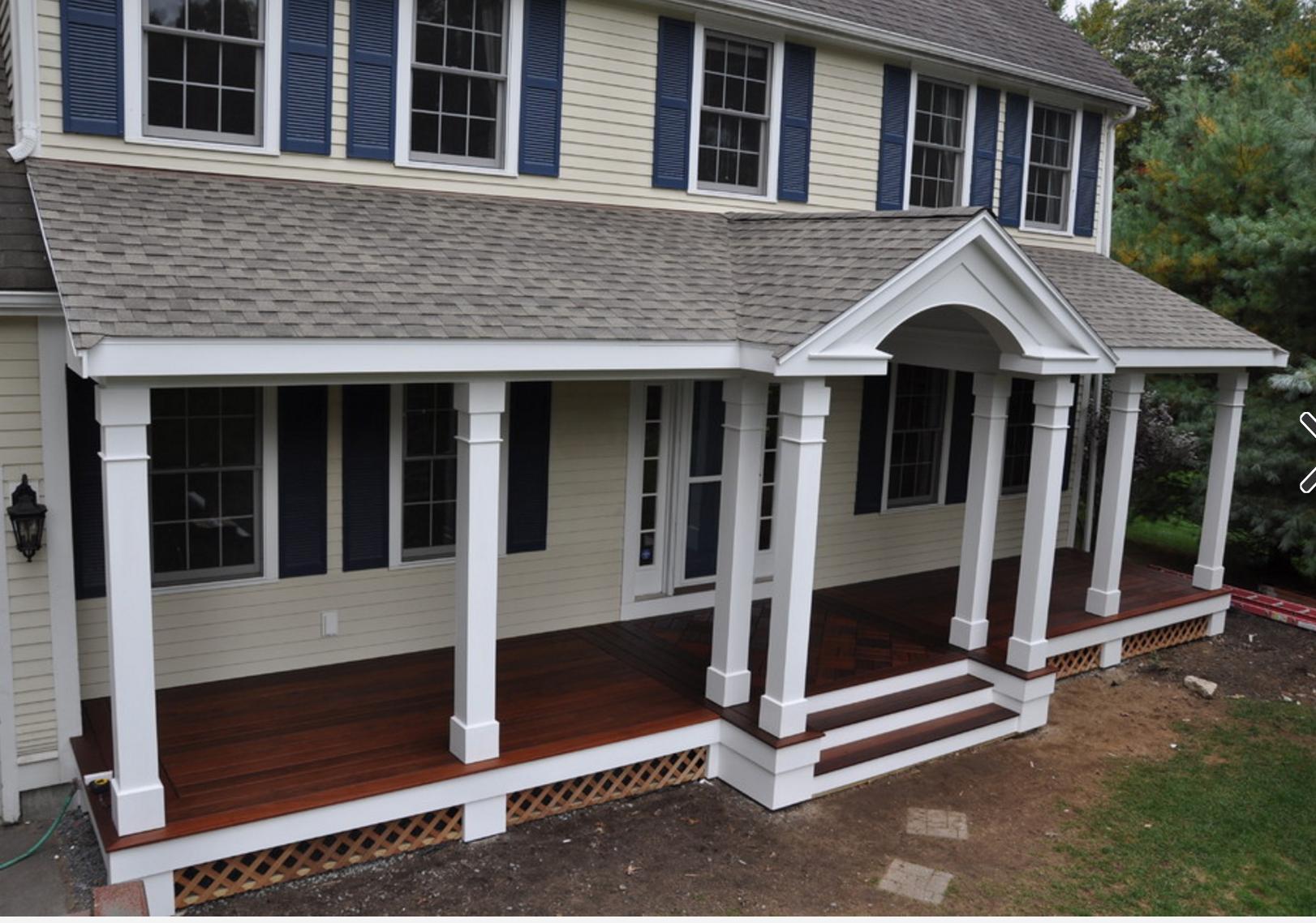 Front porch ideas  Colonial house exteriors, House front porch