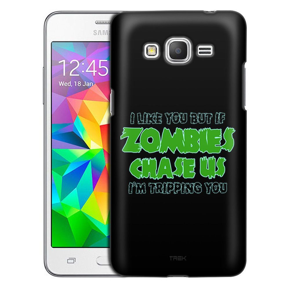 Samsung Grand Prime I Like U But If Zombies Chase Us Green on Black Slim Case