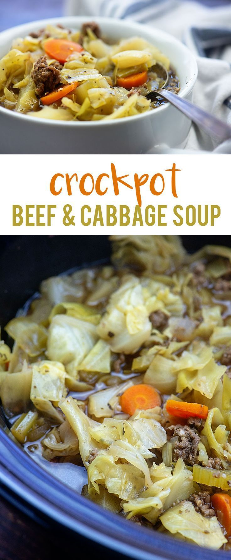 Crockpot Cabbage Soup With Beef Recipe Cabbage Soup