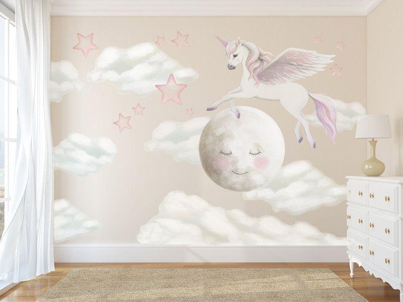 unicorn decals, rainbow decal, unicorn wall stickers, pegasus decal