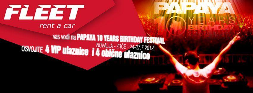 Poklanjamo 4 Vip Ulaznice Za Papaya Club Event Http Www Facebook Com Fleetrentcroatia Thrifty Car Rental Rijeka Car Rental