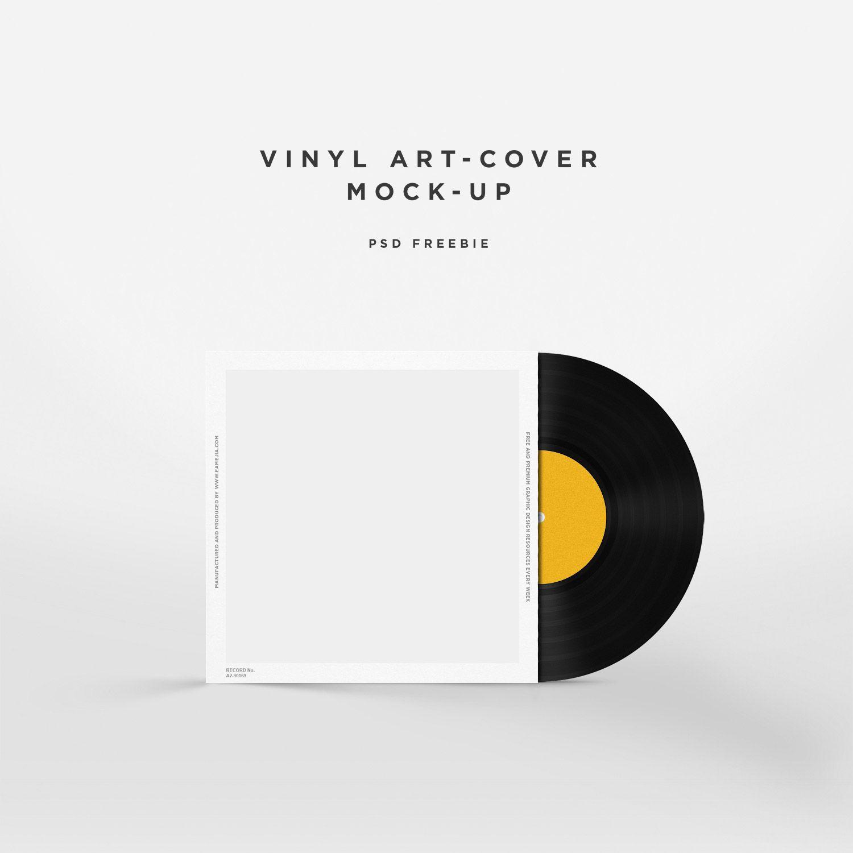 Free Vinyl Disc Cover Art Mockup Free Mockup Cover Art Cover Art Design Album Cover Design