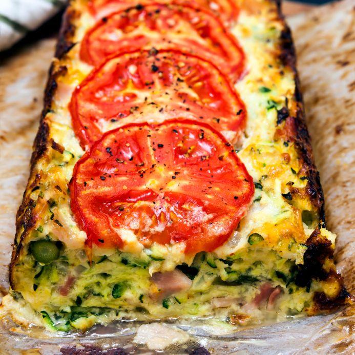 Courgette and Tomato Pie