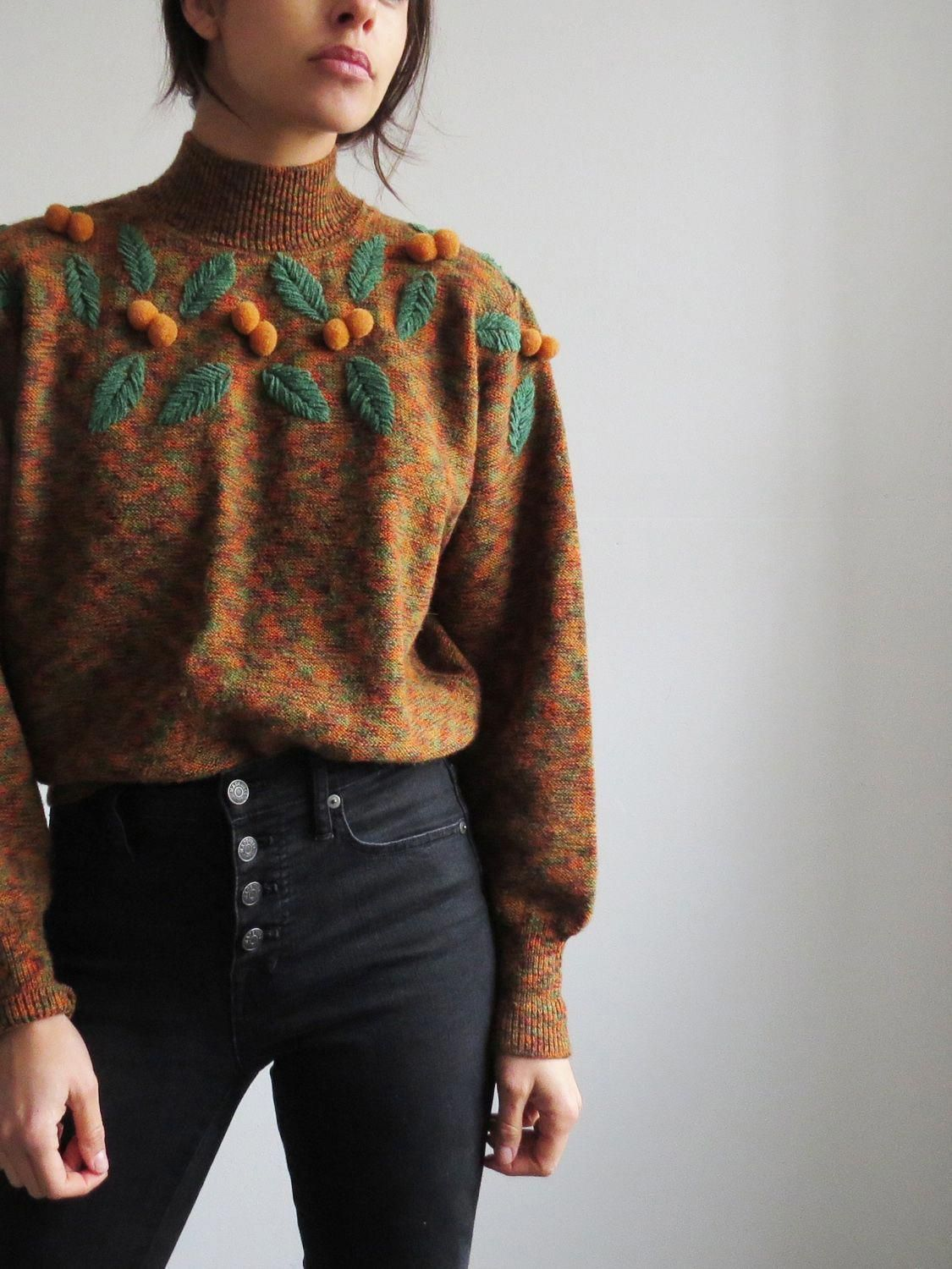 Vintage 1970's Mock Neck Sweater SOLD over30swomensfashion is part of Fashion -