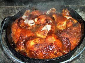Dutch Oven Texas Chicken - Fastfood, BBQ, Hähnchenkeulen