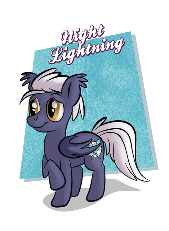 If Night Lightning was as brave at parties as he is flying through a thunderstorm, he'd be at home reading a comic book and drinking hot chocolate.  You can play with Night Lightning and all his friends in Horse Party: www.horse-party.com