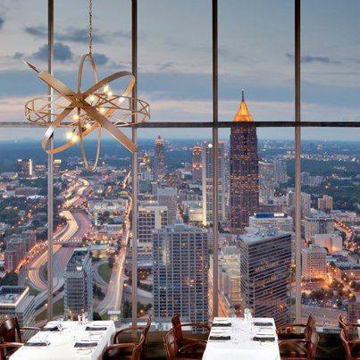 Sundial Restaurant Atlanta Skyline Atlanta Hotels Atlanta