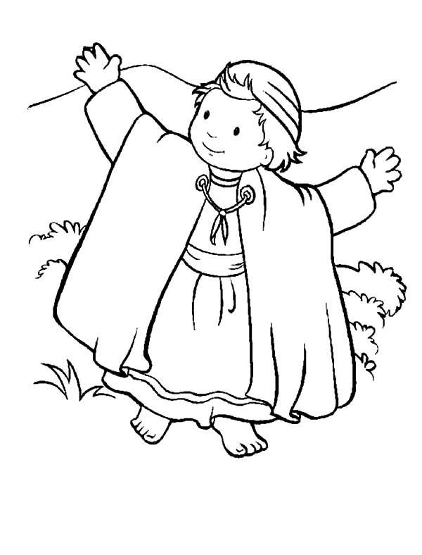 David And His Sheep Coloring Page