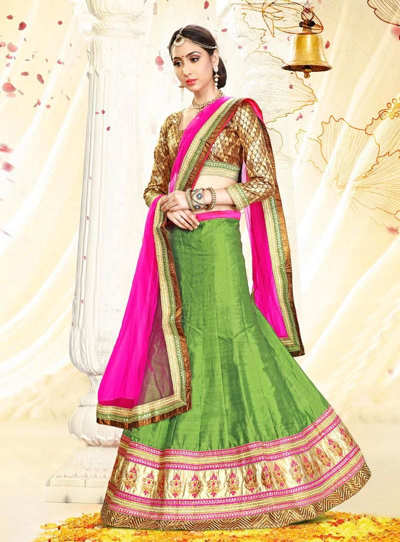LEHENGA CHOLI DRESS DESIGNS FOR WOMEN | Fashion Exprez | Pinterest ...