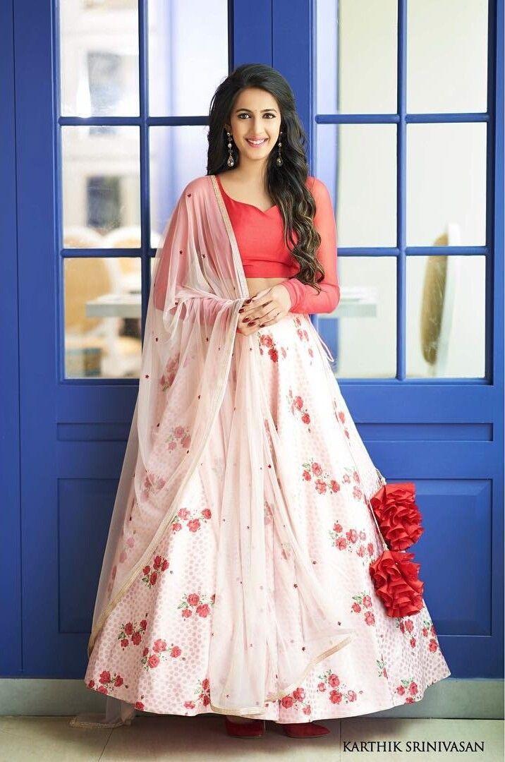 Niharika Pink prom dresses, Lehenga choli, Lehenga
