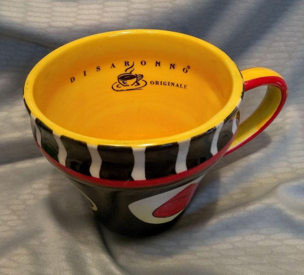 Disaronno Amaretto Originale Flower Pot Style Coffee Mug Cup! Great Condition! #Disaranno