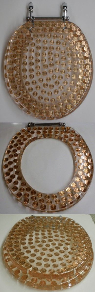 Marvelous Real U S Pennies Coins Money Lucite Resin Toilet Seat Andrewgaddart Wooden Chair Designs For Living Room Andrewgaddartcom