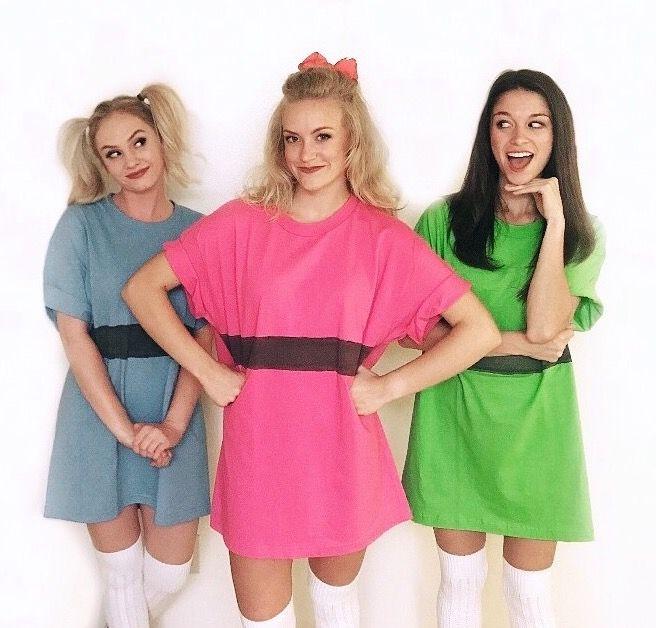 Halloween Diy Costumes The Powerpuff Girls Pinterest