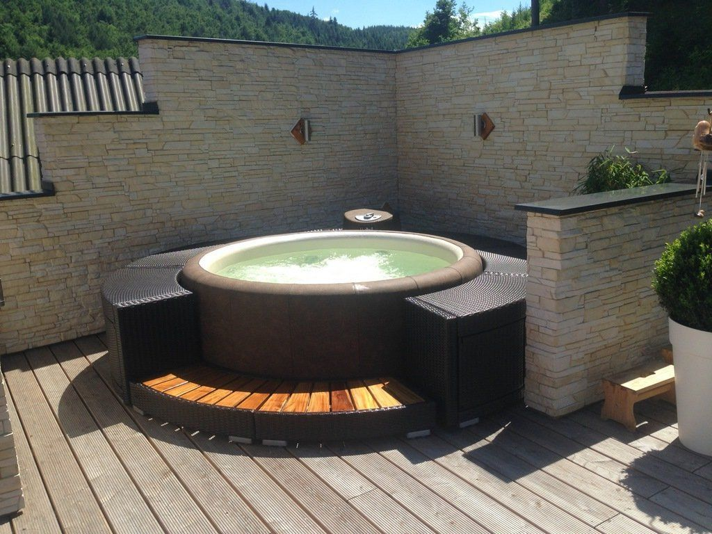 New Whirlpool Garten Aufblasbar Whirlpoolgardentub Hot Tub Backyard Hot Tub Surround Whirlpool Bathtub