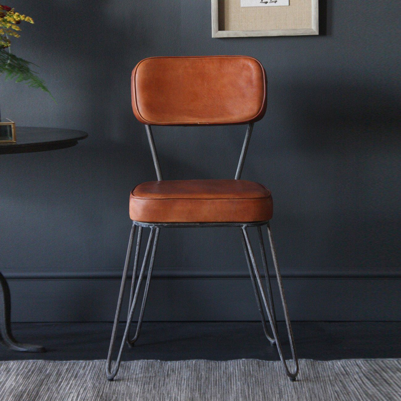 Hairpin Chair fully upholstered Industrial Vintage Dining