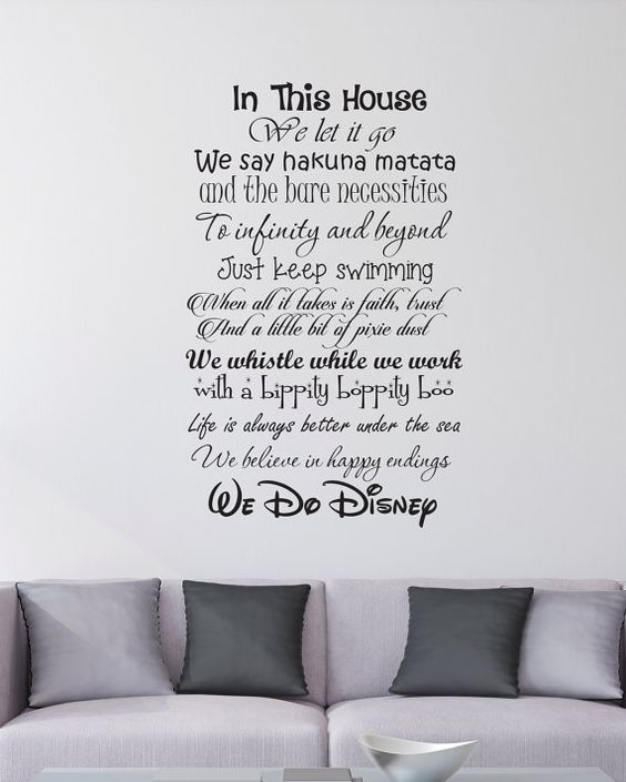 Awesome In This House We Do Disney Wall Decal By EpicGeekCrafts On Etsy