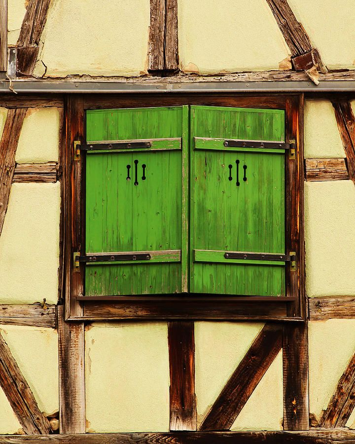 Green Shutters In Colmar France Photograph