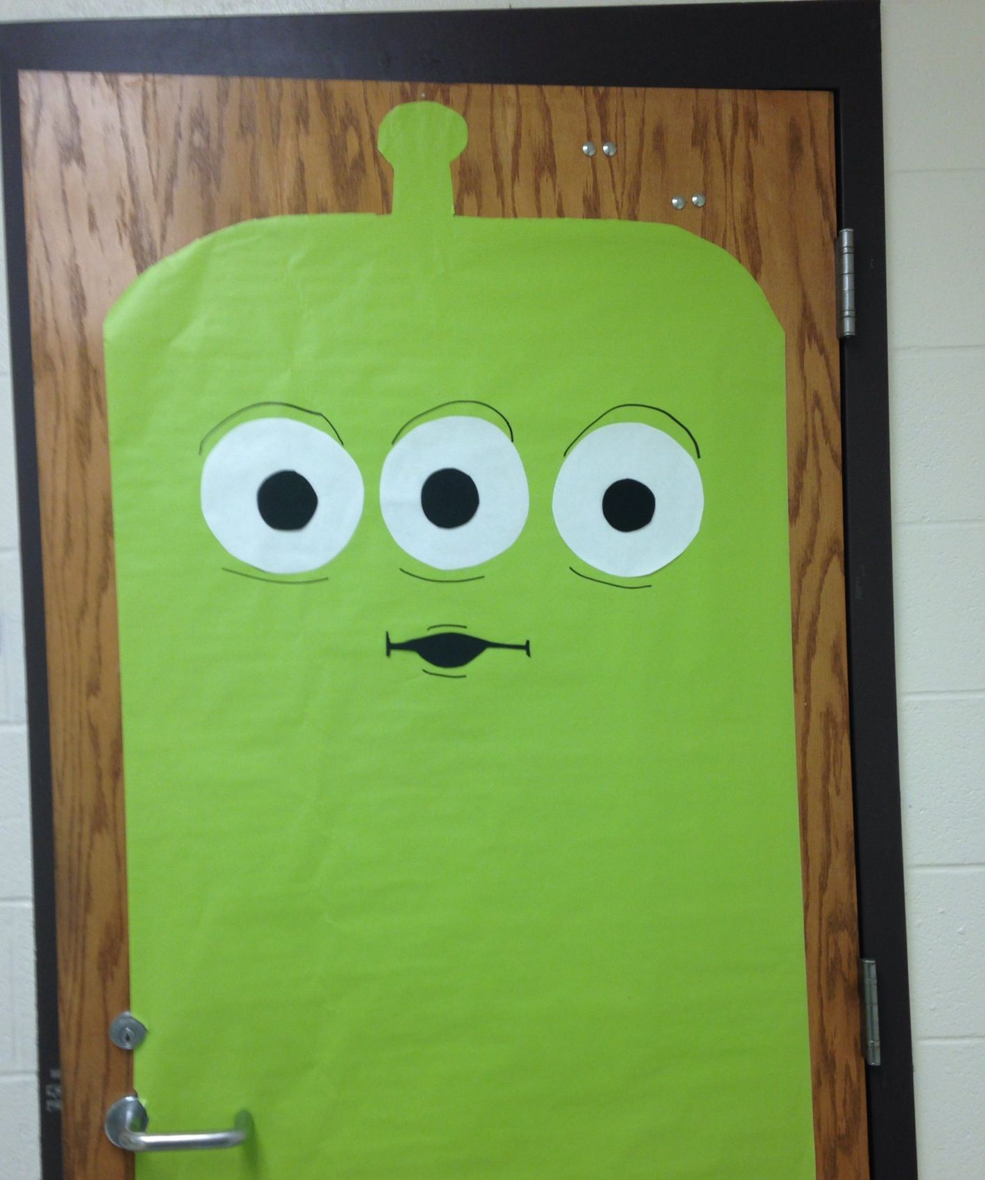 Cartoon classroom door - Toy Story Alien Classroom Door Decor
