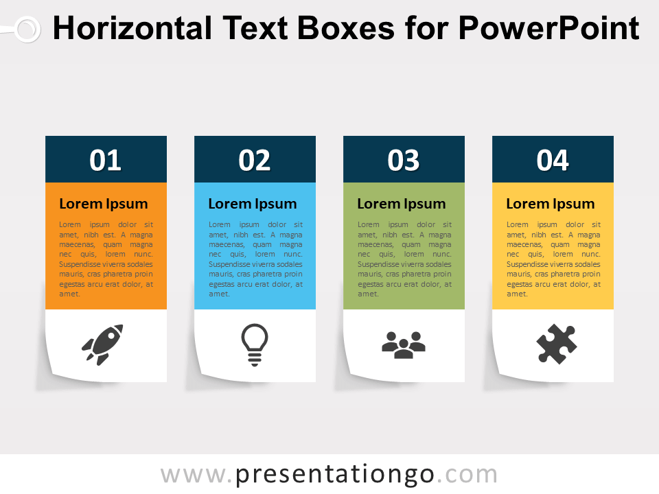 Horizontal Text Boxes For Powerpoint Powerpoint Powerpoint Templates Powerpoint Design
